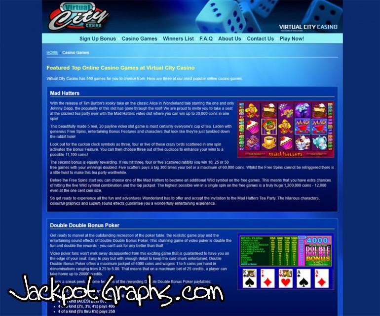 виртуал сити казино бонус